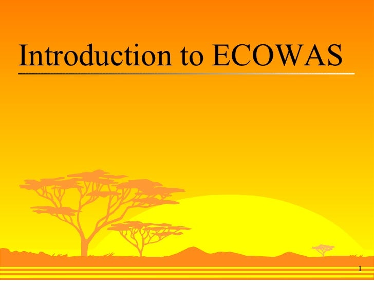 Introduction to ECOWAS