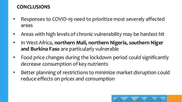 CONCLUSIONS • Responses to COVID-19 need to prioritize most severely affected areas • Areas with high levels of chronic vu...