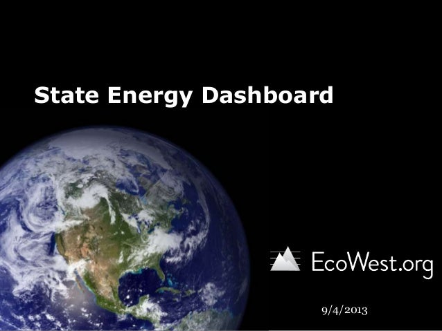 State Energy Dashboard 9/4/2013