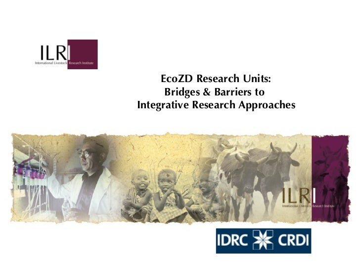 EcoZD Research Units: Bridges & Barriers to  Integrative Research Approaches
