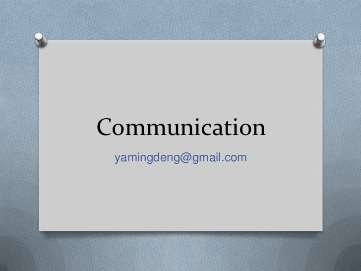 Communication yamingdeng@gmail.com