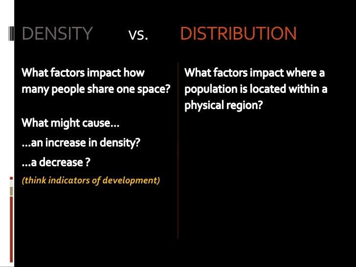 population density distribution. Black Bedroom Furniture Sets. Home Design Ideas