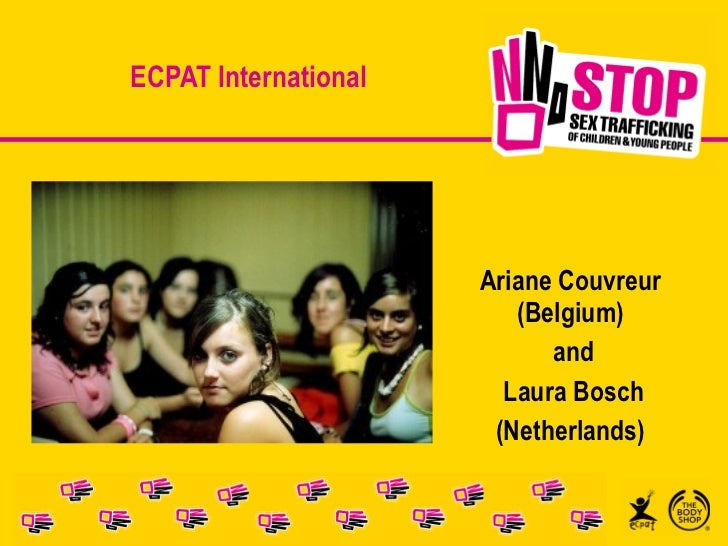 ECPAT International Ariane Couvreur (Belgium) and Laura Bosch (Netherlands)