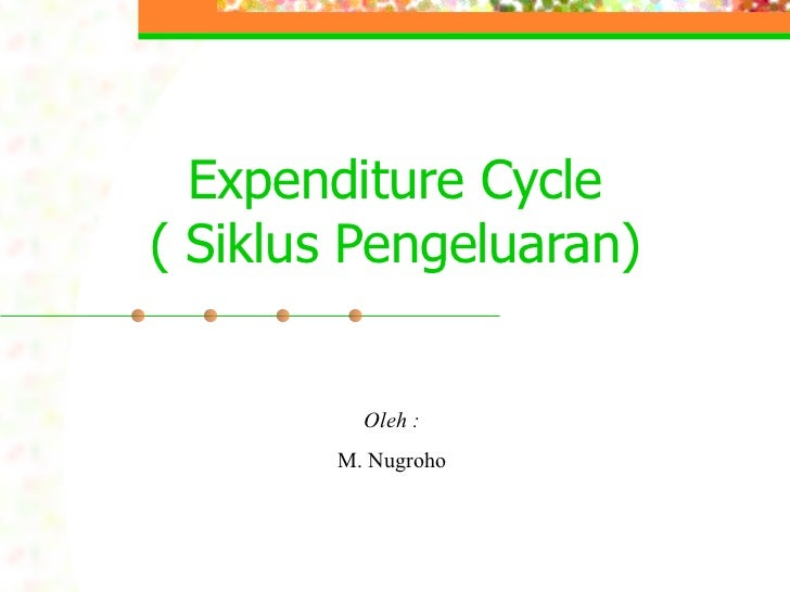 Expenditure Cycle( Siklus Pengeluaran)          Oleh :        M. Nugroho