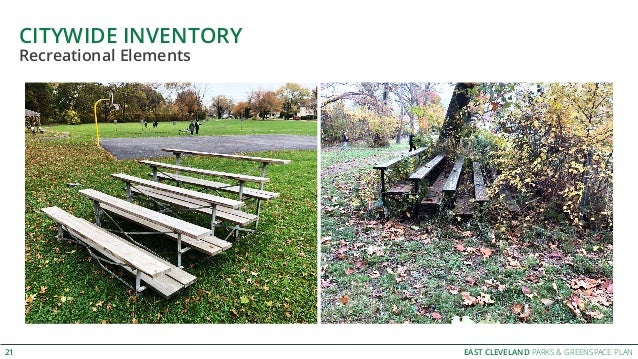 EAST CLEVELAND PARKS & GREENSPACE PLAN CITYWIDE INVENTORY 21 Recreational Elements