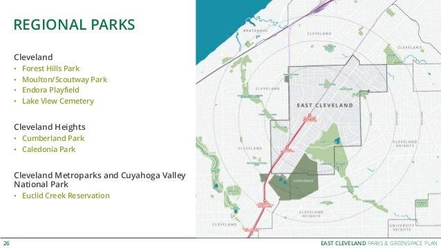 EAST CLEVELAND PARKS & GREENSPACE PLAN REGIONAL PARKS 26 Cleveland • Forest Hills Park • Moulton/Scoutway Park • Endora Pl...