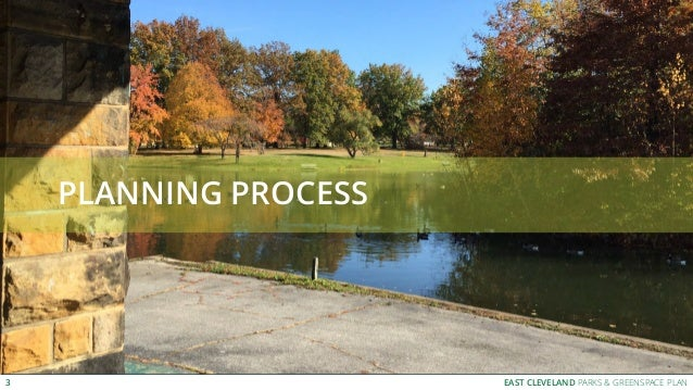 EAST CLEVELAND PARKS & GREENSPACE PLAN PLANNING PROCESS 3