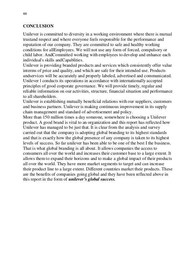 SWOT Analysis of Unilever