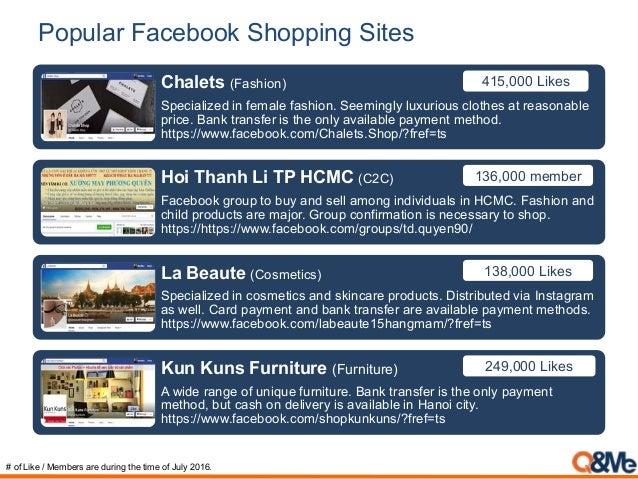 Popular Facebook Shopping Sites Chalets (Fashion) Specialized in female fashion. Seemingly luxurious clothes at reasonable...