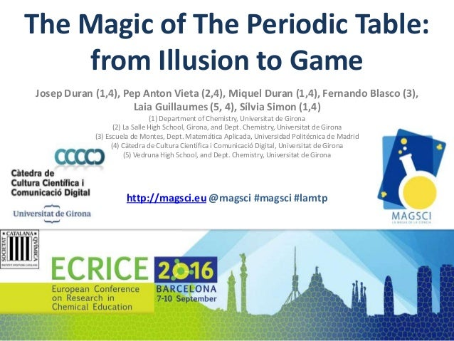 The magic of the periodic table from illusion to game the magic of the periodic table from illusion to game josep duran 1 urtaz Choice Image