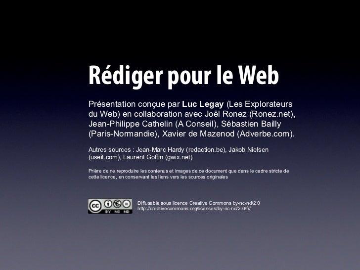 Ecrire pour le Web en 2010