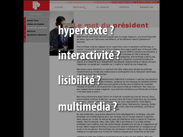 Quel texte sur un lien ?       Cliquez-ici