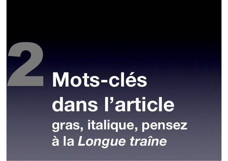 2    7 règles rédactionnelles pour le Web    Faire court    Des textes courts, des paragraphes    courts, des phrases cour...