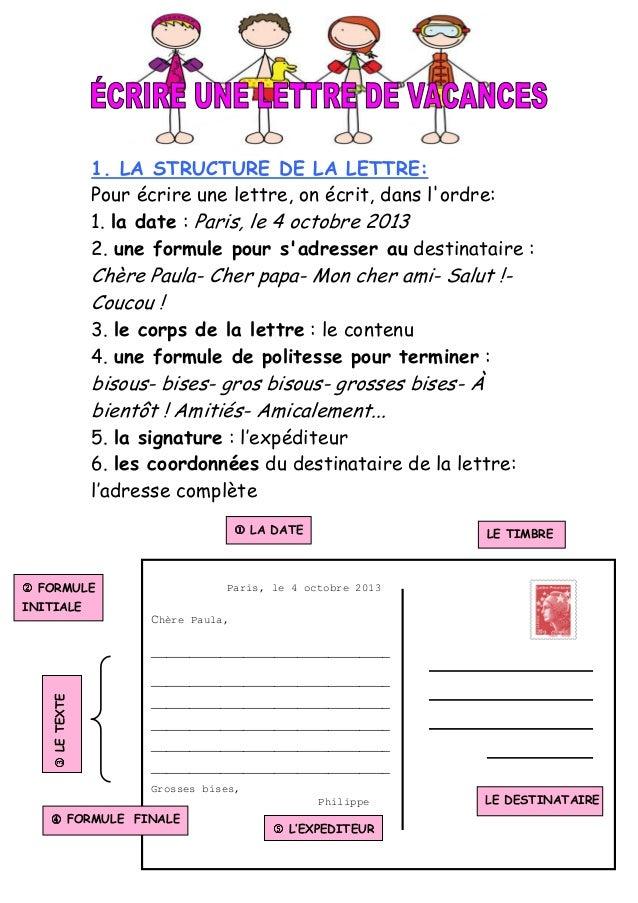 Ecrire une lettre de vacances