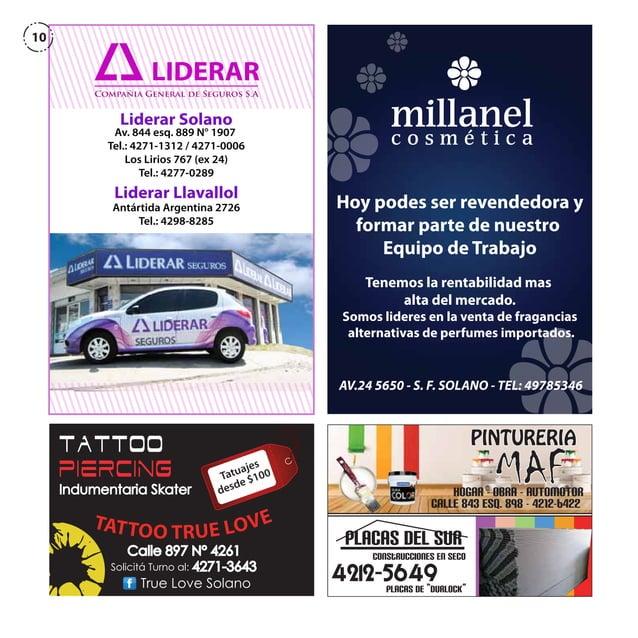 10  LIDERAR Compañia General de Seguros S.A  Liderar Solano  Av. 844 esq. 889 N° 1907 Tel.: 4271-1312 / 4271-0006 Los Liri...
