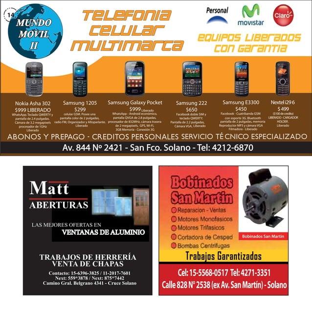14  Nokia Asha 302 $999 LIBERADO  Samsung 1205 $299  Samsung Galaxy Pocket $999 Liberado  WhatsApp - Android económico, ce...