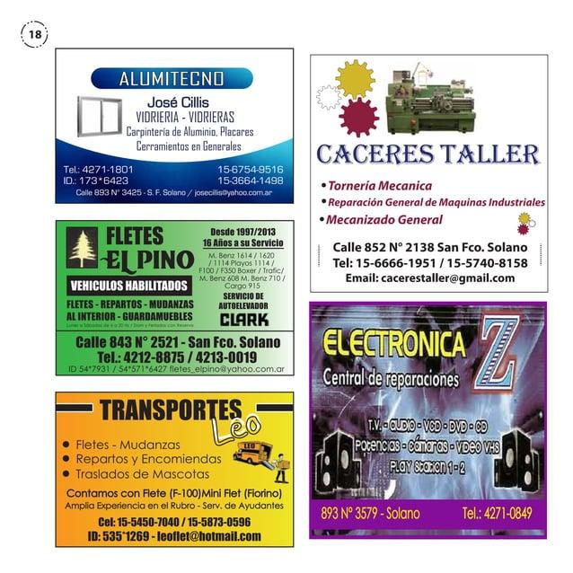 18  ALUMITECNO José Cillis  VIDRIERIA - VIDRIERAS  Carpintería de Aluminio, Placares Cerramientos en Generales Tel.: 4271-...