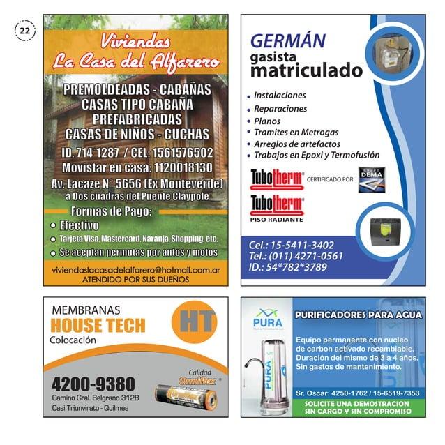 22  GERMÁN gasista matriculado  Viviendas La Casa del Alfarero PREMOLDEADAS - CABAÑAS CASAS TIPO CABAÑA PREFABRICADAS CASA...