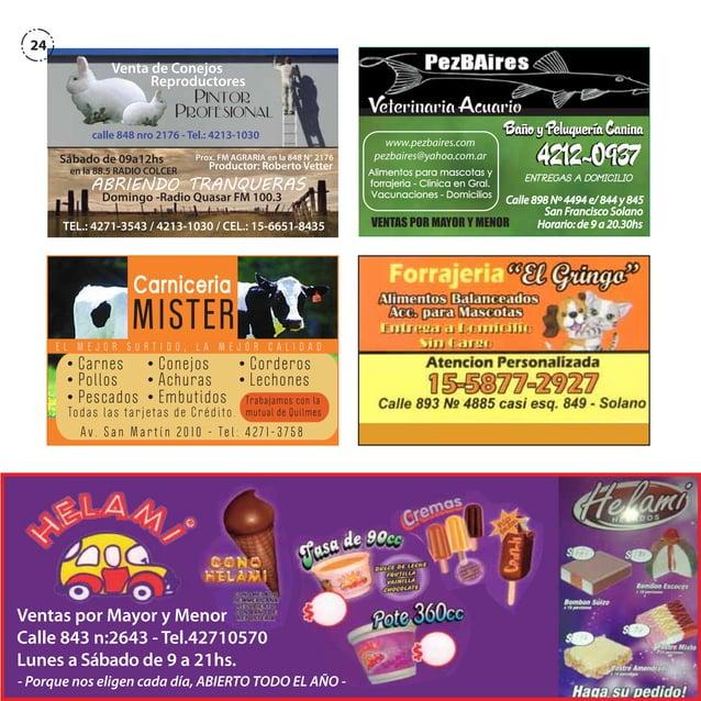 24 Venta de Conejos Reproductores  Pintor Profesional  calle 848 nro 2176 - Tel.: 4213-1030  Sábado de 09a12hs  Prox. FM A...