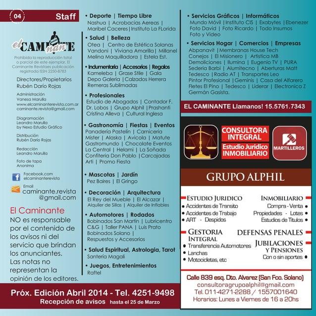 Staff  04  • Deporte   Tiempo Libre  Nashua   Acrobacias Aereas   Maribel Caceres Instituto La FLorida  • Salud   Belleza ...