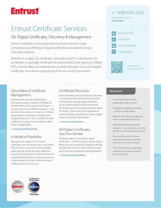 Entrust Certificate Services Ssl