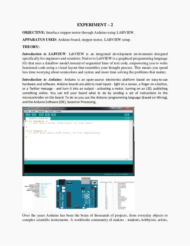 Interface stepper motor through Arduino using LABVIEW