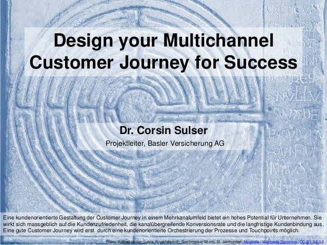 Design your Multichannel Customer Journey for Success Dr. Corsin Sulser Projektleiter, Basler Versicherung AG Photo: Kathe...