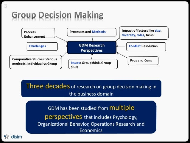 individual decision making vs group decision Problem solving vs decision making life is filled with complexities, and one of them is to know the difference between problem solving and is solving a problem meaning, it is a method wherein a group or an individual makes something positive out of a problem decision making, on the.