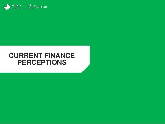 CURRENT FINANCE PERCEPTIONS