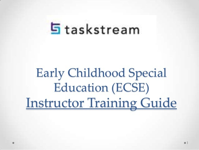 Early Childhood Special Education (ECSE) Instructor Training Guide 1