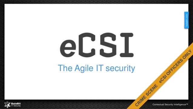 The Agile IT security