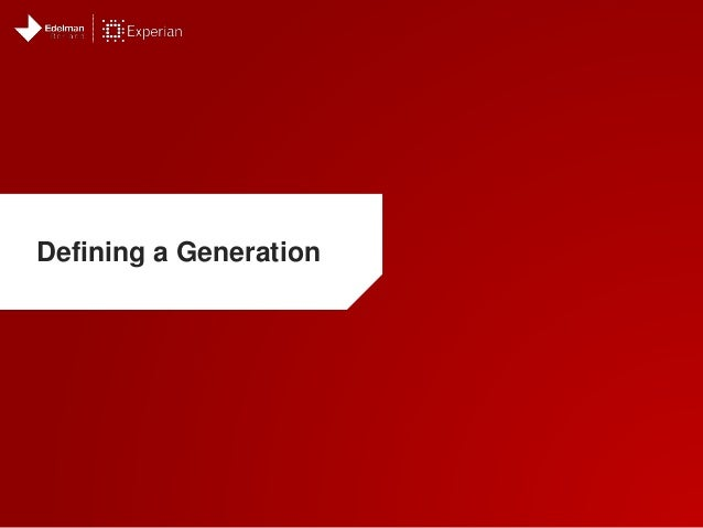 Defining a Generation