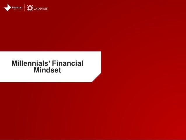 Millennials' Financial Mindset