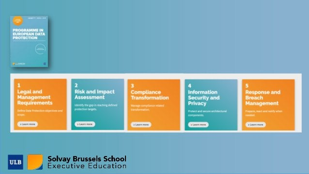 Specialised education for Data Protection Alumni Extended education offered to Data Protection officers and GDPR professio...