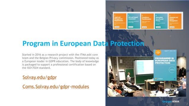 Pr. Georges ATAYA Academic Director IT Management Education Information Security Education Program in European Data Protec...
