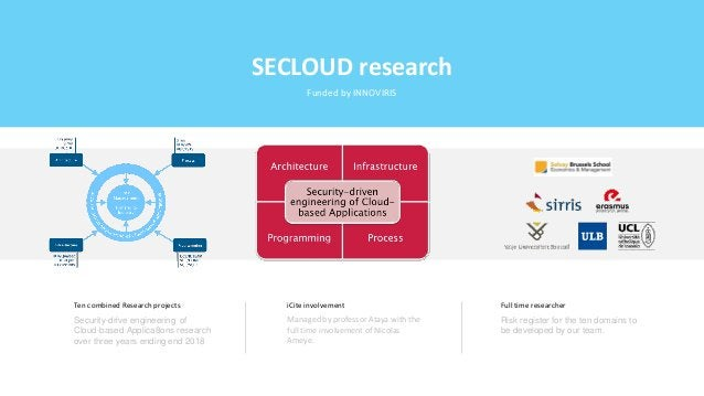 Ten combined Research projects Security-drive engineering of Cloud-based Applica8ons research over three years ending end ...