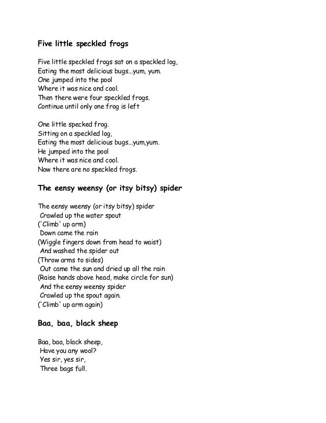 Nursery Song