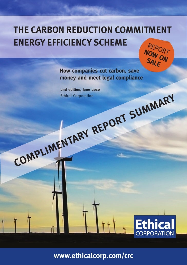 THE CARBON REDUCTION COMMITMENT ENERGY EFFICIENCY SCHEME   REP                                             NOW ORT        ...