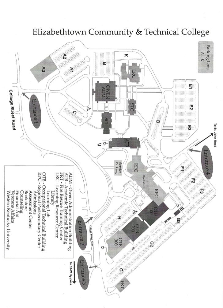 Kentucky Campus Map.Ectc Campus Map