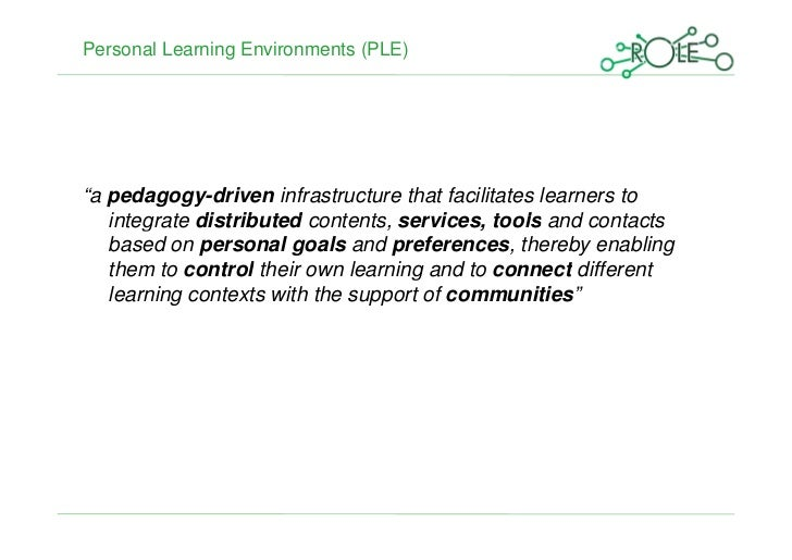 The Social Requirements Engineering (SRE) Approach to Developing a Large-scale Personal Learning Environment Infrastructure Slide 2