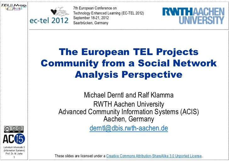 7th European Conference on                                      Technology Enhanced Learning (EC-TEL 2012)                ...