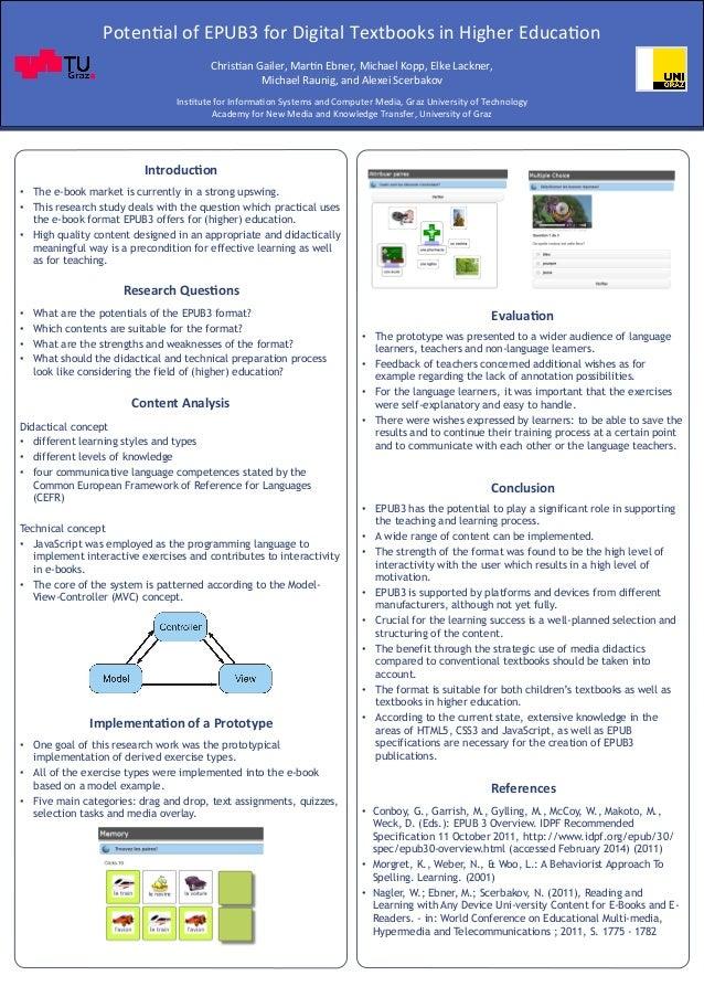 Poten$al  of  EPUB3  for  Digital  Textbooks  in  Higher  Educa$on  Chris$an  Gailer,  Mar$n  Ebner,  Michael  Kopp,  Elke...