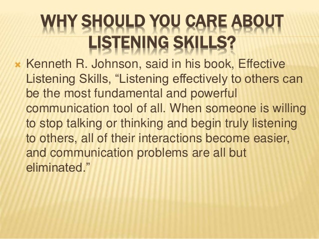 importance of effective listening