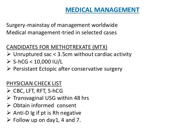Methotrexate For Ectopic Pregnancy What To Expect