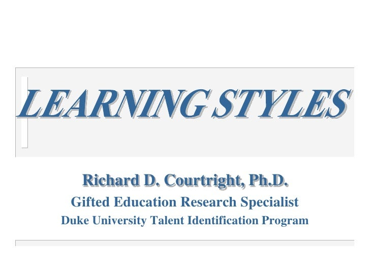 Richard D. Courtright, Ph.D.<br />Gifted Education Research Specialist<br />Duke University Talent Identification Program<...