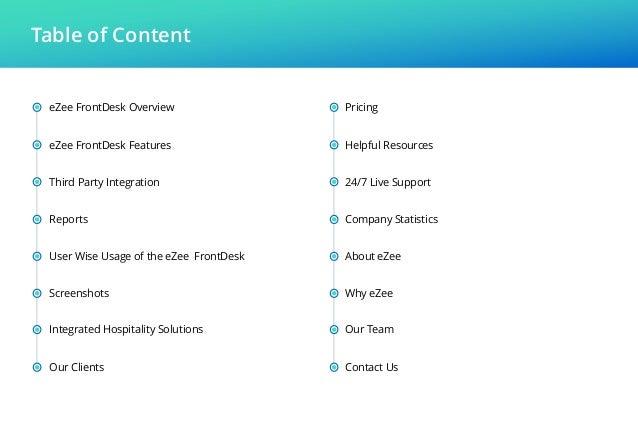 eZee FrontDesk - Hotel Management Software