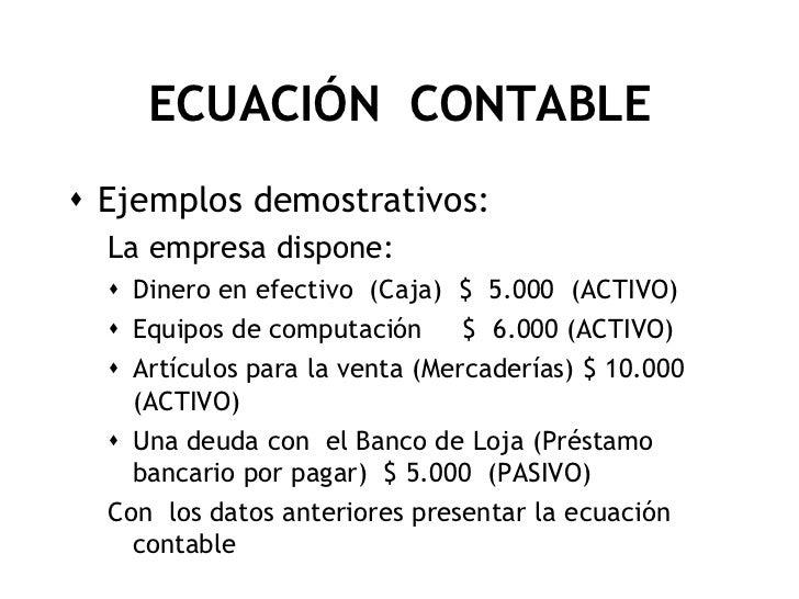 Ecuación contable
