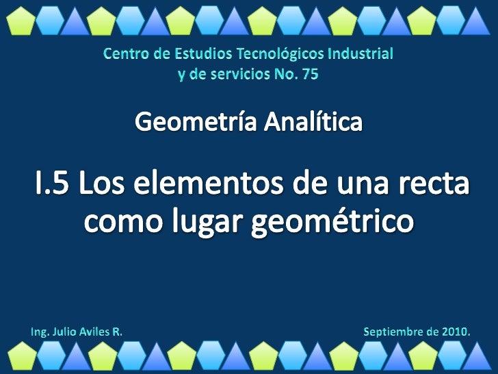 ANGULO DE INCLINACION Y PENDIENTE DE UNA RECTASe llama ángulo de inclinación de una recta r al menor de losángulos que for...