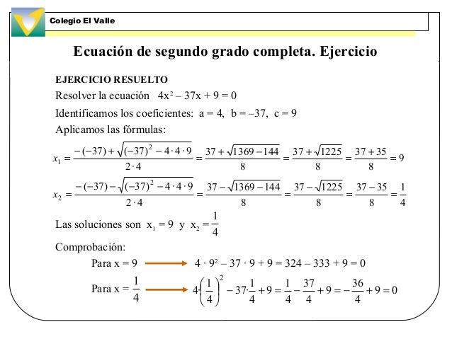 Igualdades y ecuaciones for Ecuaciones de cuarto grado