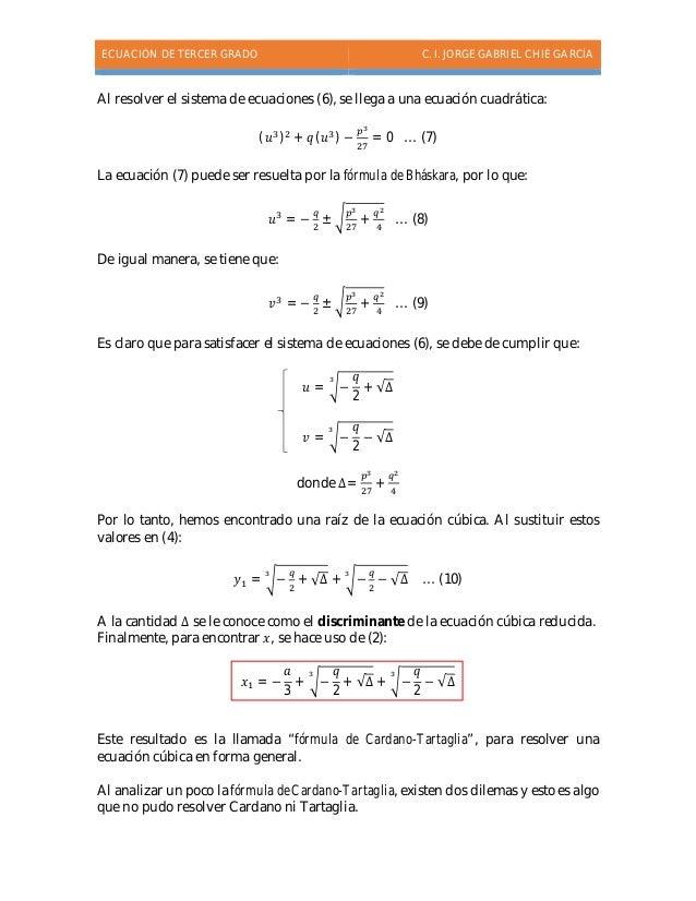 Ecuaciones de tercer grado